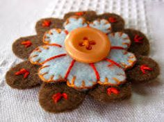 Image result for embroidered felt flowers