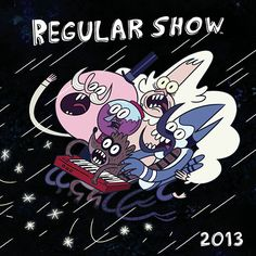 Regular Show Wall Calendar: Spend the year with Mordecai, Rigby, and all their friends from Cartoon Network's Regular Show with this 2013 wall calendar featuring scenes from the popular animated series.  http://www.calendars.com/Kids-TV/Regular-Show-2013-Wall-Calendar/prod201300002797/?categoryId=cat00071=cat00071