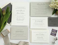 Invitación de la boda de tipografía  Portland por PinkTeapotPress