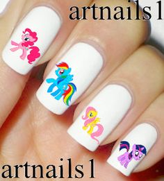 My Little Pony Nails Nail Art Polish Manicure Rainbow by artnails1