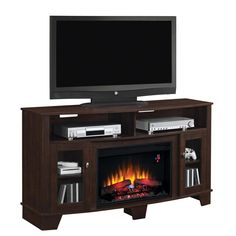 This 5-shelf fireplace can heat up to 400 square feet and uses energy-saving LED technology. La Salle ET Fireplace | Weekends Only Furniture and Mattress