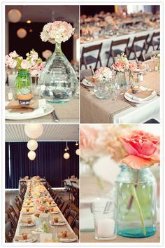 blush and navy table | Classic Blush + Navy Wedding