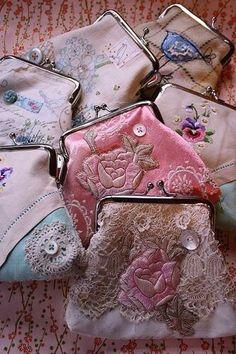 Cute little shabby chic coin purses