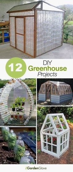 12 Great DIY Greenhouse Projects • Lots of Ideas and Tutorials on how to build a greenhouse! #HowtoBuildaGreenhouse #DIYGreenhouse #GreenhouseProjects #GreenhouseIdeas