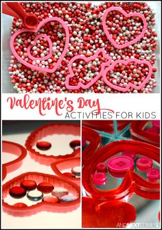 Day preschool Valentines Day activities for kids, including Valentines Day themed sensory bins for toddlers and preschoolers and learning activities from And Next Comes L Valentine Sensory, Kinder Valentines, Valentine Theme, Valentines Day Activities, Homemade Valentines, Valentine Day Love, Valentines Day Party, Valentine Day Crafts, Valentine Games