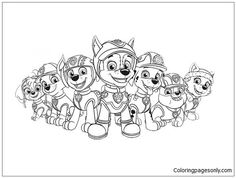 Paw Patrol 28 Coloring Page