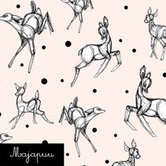 Luomutrikoo: Dancing deer l. Deer, Creatures, Fabrics, Dance, Business, Fictional Characters, Design, Art, Tricot