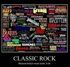 Classic rock. Because today's music sucks... Except for alternative ;)