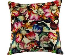 Floral Print Pillow Cover, Botanical Pillow, Floral Cushion Cover, Floral Home Decor, Spring/Summer Decor Printed Cushions, Printed Pillow, Pillow Covers, 16x16 Pillow Cover, Dining Room Style, Floral Prints, Pillows, Soft Furnishings, Flower Pillow