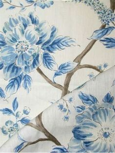Errington Lake 5 - Sarah Richardson Design Fabric by Kravet. linen vine of life print. Perfect for upholstery, pillow covers, top of the bed or drapery panels. Drapery Panels, Drapery Fabric, Linen Fabric, Curtains, Blue And White Fabric, White Fabrics, Kitchen Fabric, Mood Fabrics, Master Bedroom Design