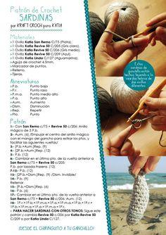 Craft Lovers ♥ Espeto de Sardinas por Kraft Croch… Blog, Pendant, Crochet, Crafts, Kabobs, Fabrics, Chrochet, Beach Bars, Trapillo