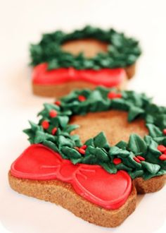 Cute Christmas Wreath Cookies Recipes, Christmas Cookie Party