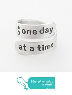 Semicolon ring one day at a time inspirational recovery gift suicide awareness semicolon jewelry from Belvidesigns http://www.amazon.com/dp/B01C4WEPN4/ref=hnd_sw_r_pi_dp_UX50wb18MEQEH #handmadeatamazon