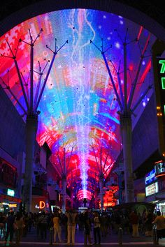 Fremont Street experience. This is the greatest attraction there...I LOVE this place <3