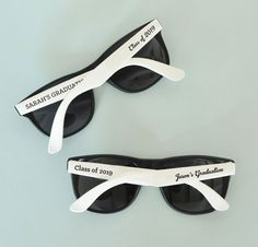 Personalized Graduation Sunglasses at Elegant Gift Gallery. We're your number one source for the graduating class of 2019 graduation party favors, including personalized graduation sunglasses. Groomsmen Proposal, Groom And Groomsmen, Groomsmen Presents, Groom Attire, Bridesmaid Proposal, Bridesmaid Jewelry Sets, Bridesmaid Bracelet, Team Groom, White Sunglasses