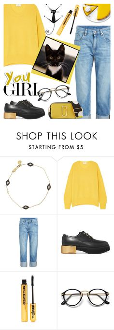 """""""Yellow  💛"""" by cilita-d ❤ liked on Polyvore featuring Vanessa Kandiyoti, Allude, Brunello Cucinelli, Alexander McQueen, Nasty Gal and Marc Jacobs"""