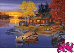 Jigsaw puzzle Landscape Peaceful Evening 500 pc NIB