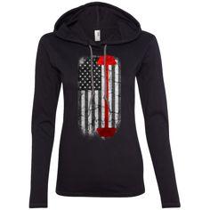 Strong American Pride Ladies Longsleeve Hoodie American Pride, Workout Gear, Lgbt, Strong, Hoodies, Long Sleeve, Pride Flag, Sweaters, T Shirt