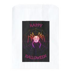 Pretty Pink Spider Halloween Favor Bag