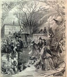 APRIL-FOOL'S DAY IN NEW YORK, OPPOSITE THE ASTOR HOUSE - This Day in History: Apr 1, 1700: April Fools tradition popularized http://dingeengoete.blogspot.com/