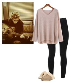 """Guitar Lesson ~ Imagine In Description"" by hanakdudley ❤ liked on Polyvore featuring Peace of Cloth and UGG Australia"