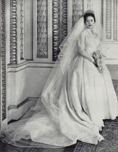 The Princess Margaret on her wedding day.