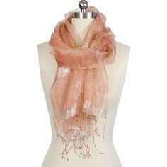 nice way to wear a scarf, esp. those with pretty details