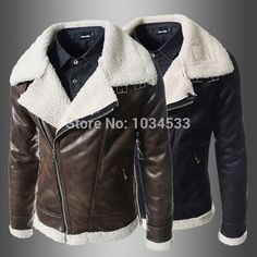 Nordic air force military style jackets men pilot jacket turn-down collar fur…