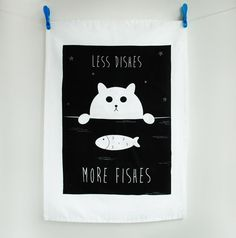 This adorable tea towel, which is sure to make washing up that little bit easier. | 24 Adorable Products Every Cat Lover Needs In Their Home