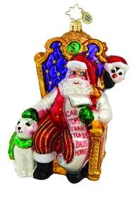 RADKO 1015654 ARCTIC BUDDIES - SANTA WITH BEAR AND PENGUIN ORNAMENT - NEW 2011 (11-10)