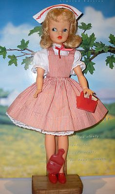 Vintage 1960's Ideal Tammy Doll Nurse While all the girls on my block played with Barbie and had my Tammy who I loved. Tammy was much taller then Barbie and I was rejected many times from playing with the Barbie girls on my block. LOL I had the Tammy that was package in a phone booth.