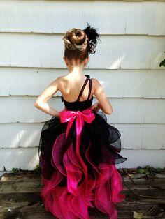 Little girls ball gown. pageant dress for little girls father daughter dance create kids couture ruffles cascading ruffles