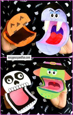 Free Printable Halloween Puppets
