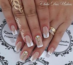 """Wedding Nails """" 15 Passionate Ideas for Inspiration! - Trendy Queen : Leading Magazine for Today's women, Explore daily Fashion, Beauty & Lifestyle Tips Fabulous Nails, Perfect Nails, Gorgeous Nails, Pretty Nails, Glam Nails, Toe Nails, Beauty Nails, Bridal Nails, Wedding Nails"""