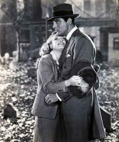Cary Grant & Priscilla Lane, 1944,  Arsenic and Old Lace--super funny movie.