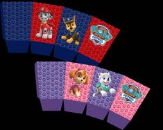 Paw Patrol Popcorn Boxes Party Printable Popcorn Boxes, Box Design, Party Printables, Vibrant Colors, Card Stock, House, Bright Color Schemes, Haus, Homes