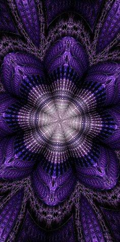 Fractal beauty blue... Art Fractal, Fractal Images, Fractal Design, Kaleidoscope Art, Ps Wallpaper, Psychedelic Art, Optical Illusions, Sacred Geometry, Amazing Art