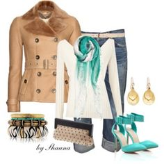 Burberry and teal