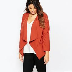 Women's Blazers   Jacket Suit   Casual Coat Outerwear   Blazer   Plus Size 7XL 6XL 5XL 4XL  Red  Long Sleeves   Pocket | Shop this product here: http://spreesy.com/LaRouxLouna/409 | Shop all of our products at http://spreesy.com/LaRouxLouna    | Pinterest selling powered by Spreesy.com