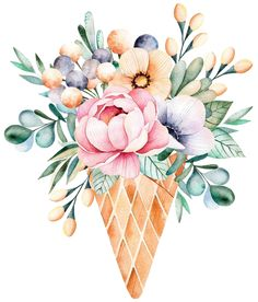 Watercolor Drawing, Watercolor Illustration, Watercolor Flowers, Homemade Stickers, Floral Illustrations, Art Floral, Fabric Painting, Cute Drawings, Art Lessons
