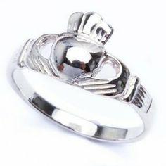 Sterling Silver Solid Irish Claddagh Ring