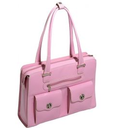 McKlein W Series Verona Leather FlyThrough Ladies Briefcase  http://www.luggagefactory.com/mcklein  #pink #pinkluggage #luggage #travel #purse #bag #pinkbags