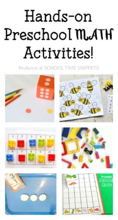 25+ Hands-On Preschool Math Activities | So many fun ways to explore math concepts with your preschooler!
