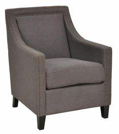 Extra Chair for Living Room.  Customary Styled Collina Club Chair - Warm Grey