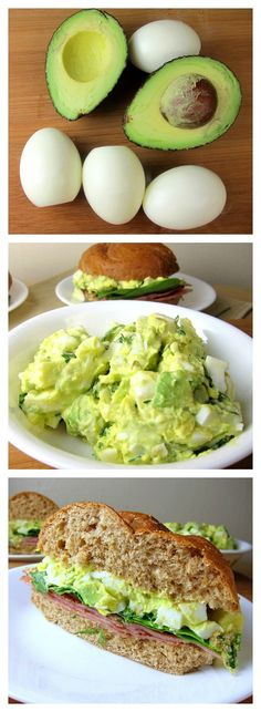 Green Eggs and Ham sandwich! Substitute avocado for some of the mayo.