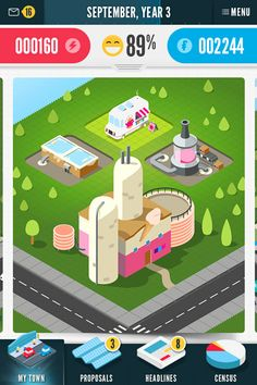 SCREENSHOT 5 - This is a project screen for an Ice Cream Factory. It shows the Ice Cream Factory after it has been approved by you, the player.