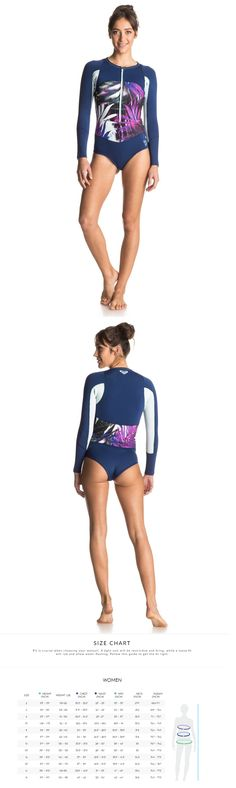 Women 47356: New Quiksilver Roxy Caribbean Sunset Bikini Cut Front Zip Wetsuit Wet Suit -> BUY IT NOW ONLY: $44 on eBay!