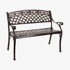 $201 Best Selling Home Decor Hamilton 23.6-in W x 39.3-in L Aluminum Patio Bench
