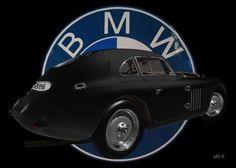BMW 328 Touring Coupé Le Mans Advertising