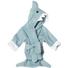 Baby Aspen `Let The Fin Begin` Terry Shark Robe, Blue, 0-6 Months $31.41